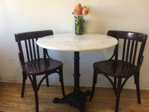 Two bentwood dining chairs, made in Poland