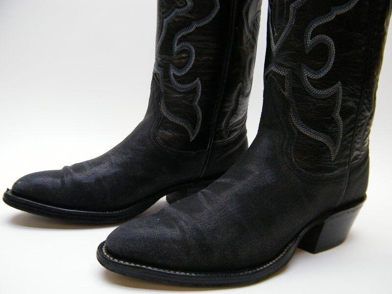 womens nocona black genuine stingray cowboy western