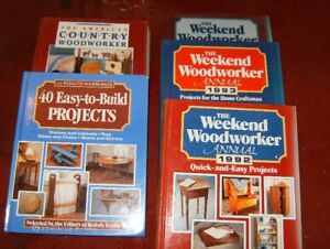 5 Hard cover Woodworking Books. $2.00 each