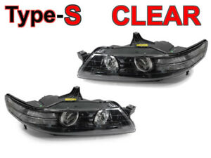 DEPO Black Clear Bi-Xenon D2S Projector Headlights For 07-08 Acura TL Type-S