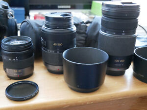 Panasonic Lumix Mega O.I.S zoom lenses.