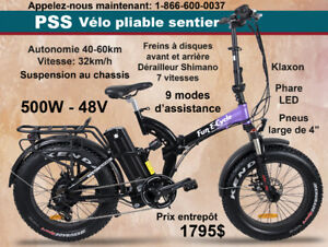 VÉLO ÉLECTRIQUE pliable FAT BIKE PSS de Fun E-Cycle