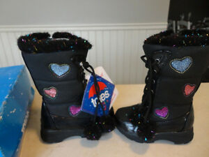 Brand New Totes Kids Black Snow Boots Size 6 Girls. Never Worn. Kitchener / Waterloo Kitchener Area image 1