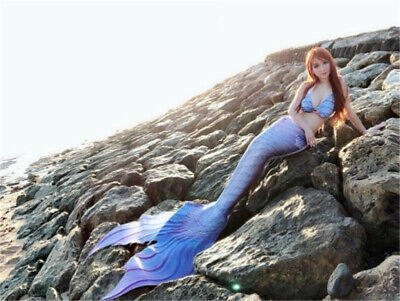Newest Luxurious Kids Adult Women Mermaid Tail With Monofin Cosplay Costume - Kids Cos