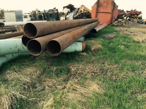 Reusable Metal, Pipe, Yellow Jacket, Culvert, Pilings, Posts