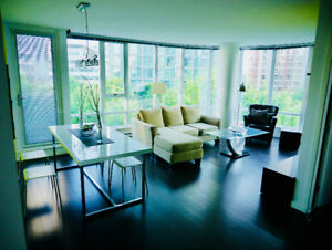Modern 2 Bedroom Robson St Condo (unfurnished/semifurnished)