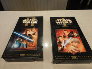 Two Star Wars VHS Movies - Phantom Menace & Attack Of The Clones Kitchener / Waterloo Kitchener Area image 1