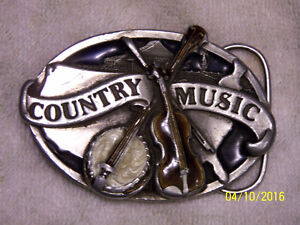 """""""Country Music"""" belt buckle"""