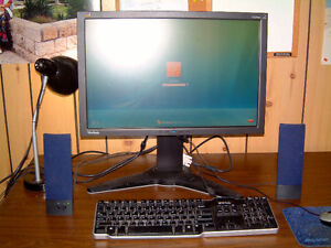 Monitor, Speakers, Printer, Keyboard,& Mouse (laser) with pad