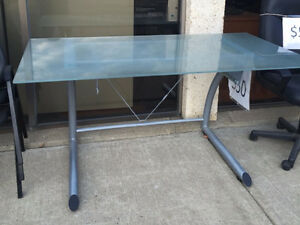 STK 2860 - IKEA GLASS TOP DESK Edmonton Edmonton Area image 2