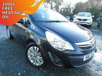 2013 Vauxhall Corsa 1.2i Energy - Black - 12 months PLATINUM WARRANTY!