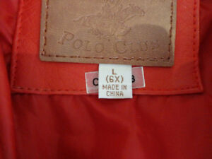 Kids Red Polo Club Red Leather Coat Size L (6x) (Ages 6 to 8yrs) Kitchener / Waterloo Kitchener Area image 2