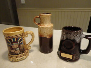 Selling three Vintage 1970's Stoneware Mugs & Scheurich Vase Kitchener / Waterloo Kitchener Area image 1