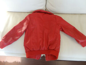 Kids Red Polo Club Red Leather Coat Size L (6x) (Ages 6 to 8yrs) Kitchener / Waterloo Kitchener Area image 3