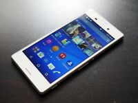 "Absolutely Amazing Boxed White Sony Xperia M Series, UNLOCKED, 5"" Sleek, Best Camera Front & Back"