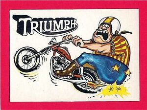 Vintage Donruss Odder Odd Rod #1 Triumph Card Sticker Old Store Stock