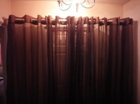 Eyelet panel Voile curtains