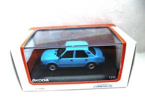 model car Skoda 120L Saloon 1984 Light Blue  Abrex