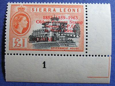1963 SIERRA LEONE 1P SCOTT# C13 S.G.# 284 UNUSED CS08094
