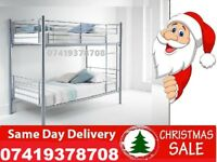 **BRAND NEW METAL BUNK SINGLE SMALL DOUBLE BED**