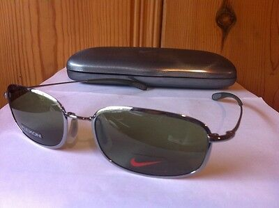 Nike Reveal I Flexon Sunglasses 035 Steel Frame W/ Grey Lens - Made In Japan