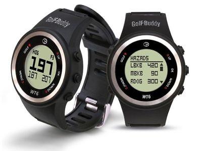 GOLF BUDDY WT6 GOLF GPS WATCH RANGE FINDER BLACK - NEW 2017