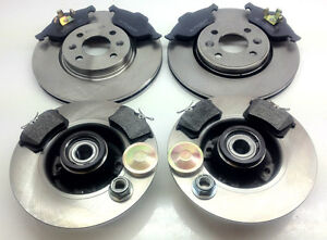RENAULT MEGANE MK2 FRONT AND REAR BRAKE DISCS PADS WITH ABS BEARING - OE QUALITY
