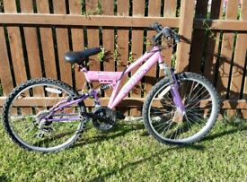 Pink Girls Mountain Bike