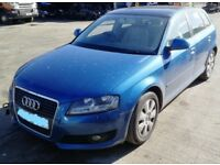 FOR PARTS AUDI A3 2.0 TDI 170 BHP 6 SPEED MANUAL BLUE 2009