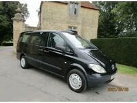 2009 59 PLATE MERCEDES VITO 111 CDI LONG TAXI 2.2 DIESEL 6 SPEED MANUAL TAXI