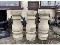 1 Cast Stone Balustrade column. Approx 2ft high. **Choice**