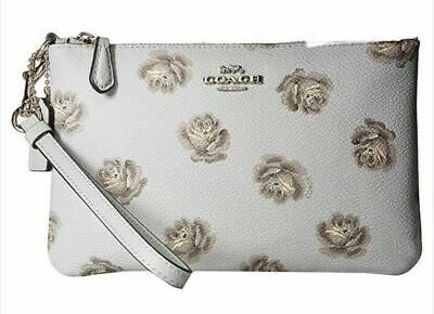 Womens Coach Small Wristlet Floral Print Purse