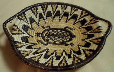 Wounaan Embera Colorful Woven Plate Basket-Panama 19020402mm