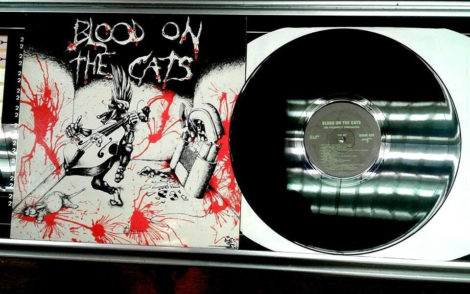 Various ‎– Blood On The Cats, VG, released on Anagram Records ‎in 1983, Psychobilly Garage Punk
