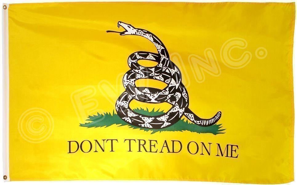 3x5 Ft Gadsden DONT TREAD ON ME Culpepper Rattlesnake Tea Pa