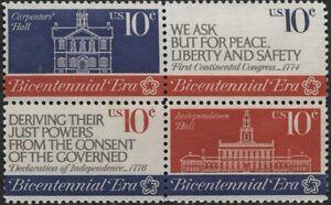 Scotts-1543-46-10c-CONTINENTAL-CONGRESS-Stamp-Block-of-4-MNH