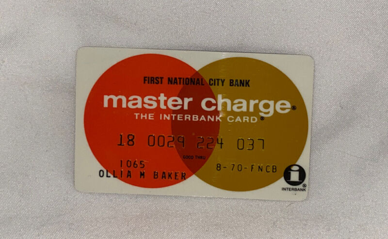 Vintage 1970 Master Charge Card First National City Bank NYC