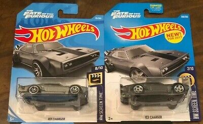Hot Wheels THE FATE of the FURIOUS ICE CHARGER NEW! FOR 2017 SCREEN TIME two dif