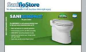 Saniflo Sanicompact 48 Macerating Toilet, New, 023,  Free Shipping! No Sales Tax