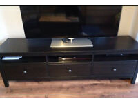 Ikea hemnes black brown tv unit (matching bedroom furniture available)
