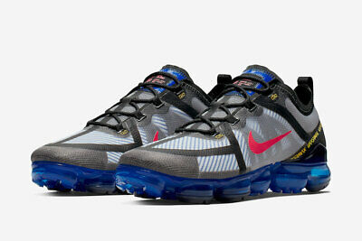 Mens Nike Air Vapormax 2019 Trainers Blue Yellow Red AR6631 008 UK 7.5_8_9.5