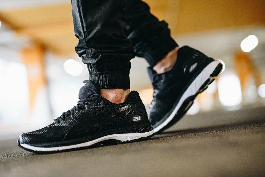 reputable site e32b9 92182 ASICS GEL Nimbus 20 Men's Running Shoes (Size 7 - 11) Black Carbon White