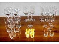 A selection of drinking glasses