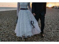 Vintage Handmade Wedding Dress size 8/10