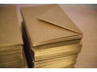Gold envelopes, C6 size (11.4 x 16.2 cm) - quantity approx. 400.
