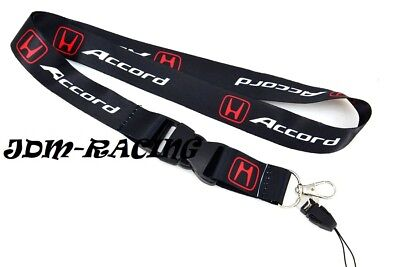 For Honda Accord Black Lanyard Neck Strap Quick Release Keychain Neck Strap