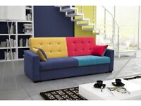 SOFA BED SETTEE COUCH with storage BONELL SPRINGS POLSKIE WERSALKI