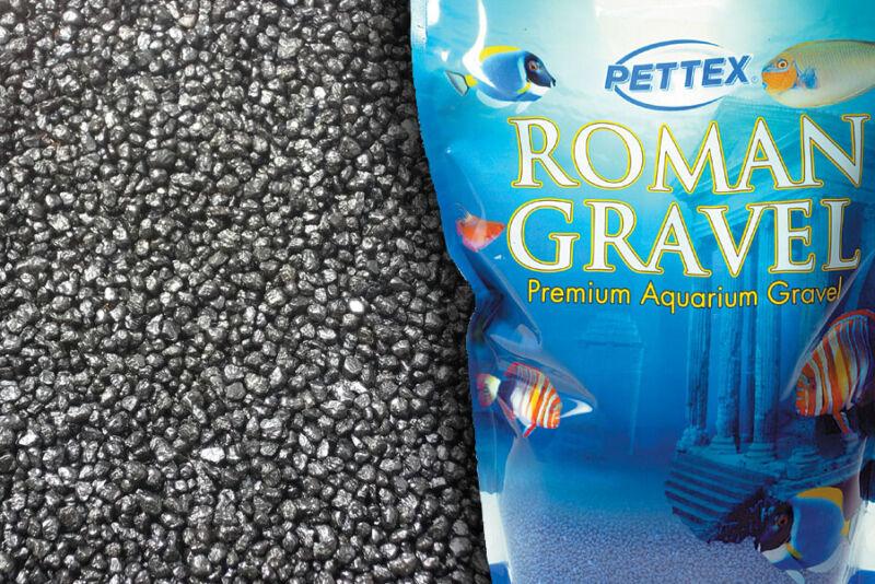 Aquatic Jet Black Colored 4.4lb Aquarium, Vivarium Fish Tank Gravel Substrate