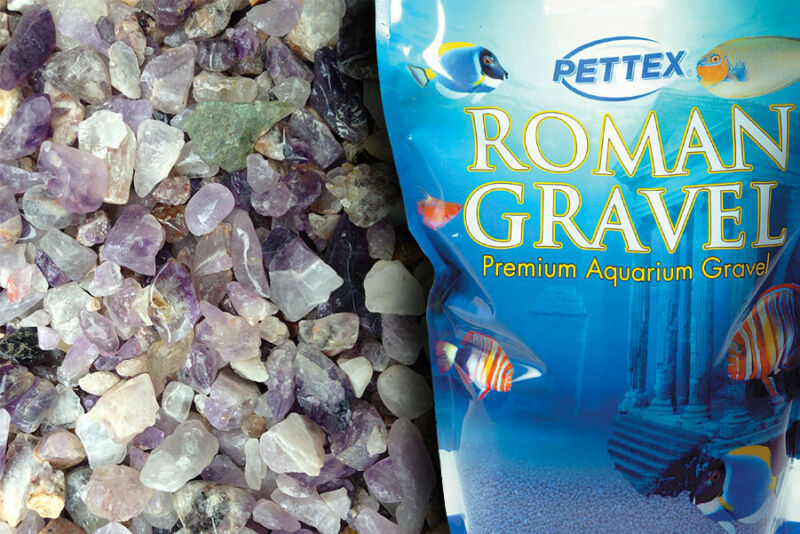 Uncoated Natural Amethyst Gravel, Purple Aquatic Aquarium Fish Tank Substrate