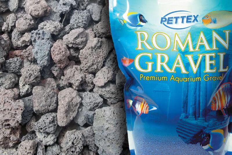 Crushed Natural Lava Rocks Aquarium Vivarium Fish Tank Gravel Substrate 4.4lb